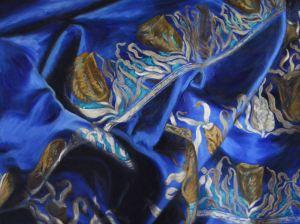 Blue Sari, Artist-Jen Brown